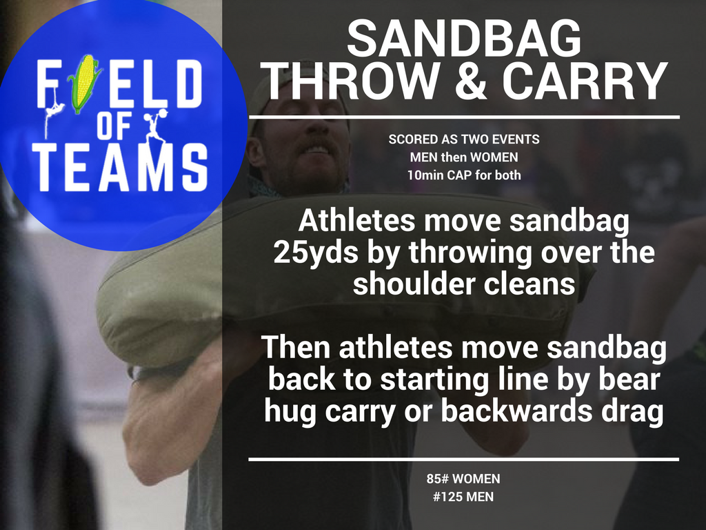 sandbag throw & carry